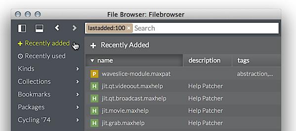 The File Browser - Max Documentation v7 3 5